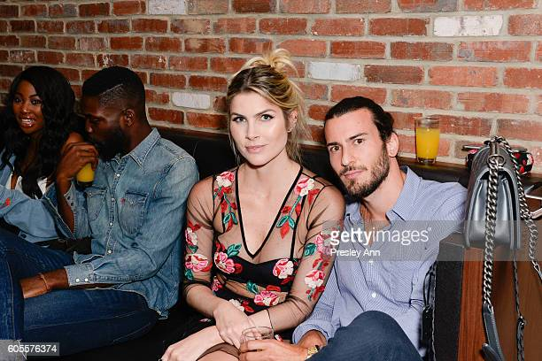 Julia Faria and Lorenzo Martone attends Interview Topshop Celebrate the Interview September Issue on September 13 2016 in New York City