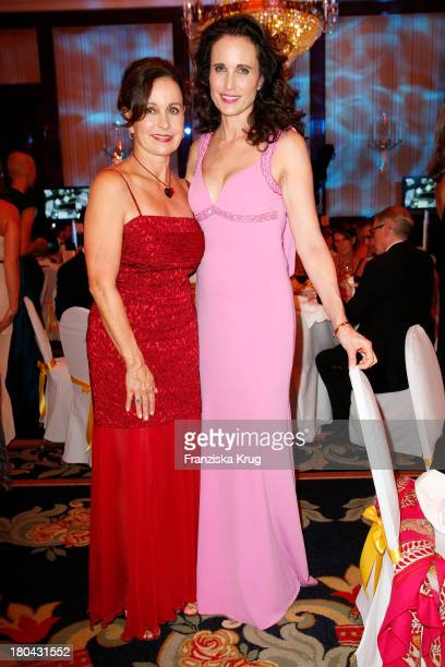 Julia Fleming and her sister Andie MacDowell attend the Dreamball 2013 charity gala at Ritz Carlton on September 12 2013 in Berlin Germany