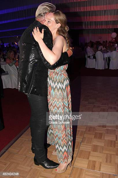 Julia Fleschenberg , Johnny Logan sings at the Kaiser Cup 2014 Gala on July 19, 2014 in Bad Griesbach near Passau, Germany.