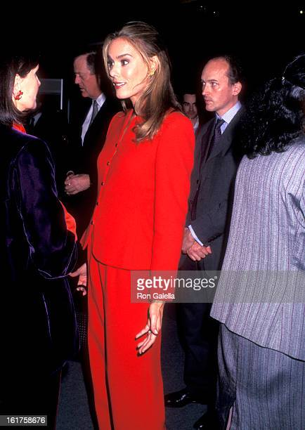 Julia Flesher attends the International Fine Art and Antique Dealers Show on October 10 1996 at Seventh Regiment Armory in New York City