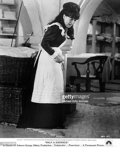 Julia Foster crying in a scene from the film 'Half A Sixpence', 1967.