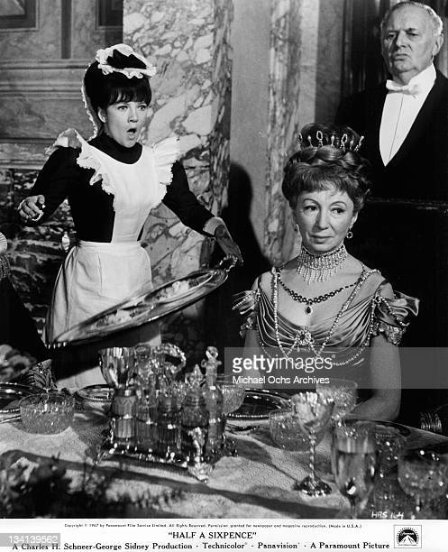 Julia Foster dropping tray in a scene from the film 'Half A Sixpence' 1967