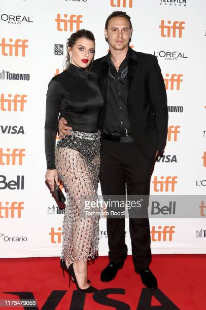 Julia Fox and Peter Artemiev attend the Uncut Gemspremiere during the 2019 Toronto International Film Festival at Princess of Wales Theatre on...