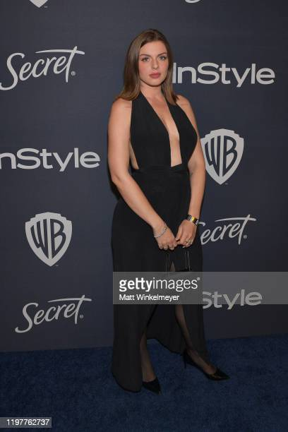 Julia Fox attends The 2020 InStyle And Warner Bros 77th Annual Golden Globe Awards PostParty at The Beverly Hilton Hotel on January 05 2020 in...