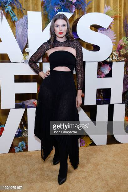 Julia Fox attends the first anniversary celebration of L'Avenue at Saks on February 04 2020 in New York City