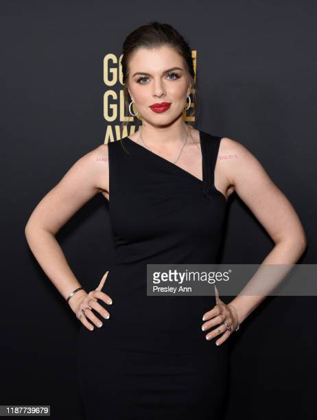 Julia Fox attends the Hollywood Foreign Press Association and The Hollywood Reporter Celebration of the 2020 Golden Globe Awards Season and Unveiling...