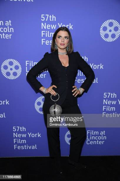 Julia Fox attends the Uncut Gems premiere during the 57th New York Film Festival at Alice Tully Hall Lincoln Center on October 03 2019 in New York...
