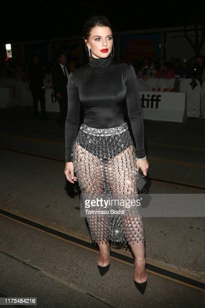 Julia Fox attends the Uncut Gemspremiere during the 2019 Toronto International Film Festival at Princess of Wales Theatre on September 09 2019 in...