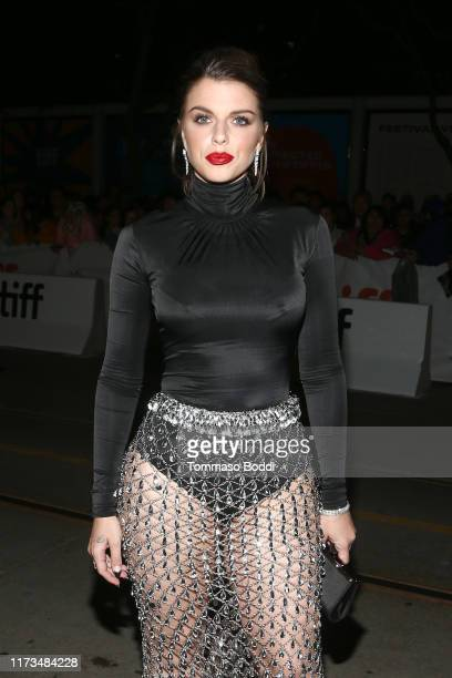 """Julia Fox attends the """"Uncut Gems""""premiere during the 2019 Toronto International Film Festival at Princess of Wales Theatre on September 09, 2019 in..."""