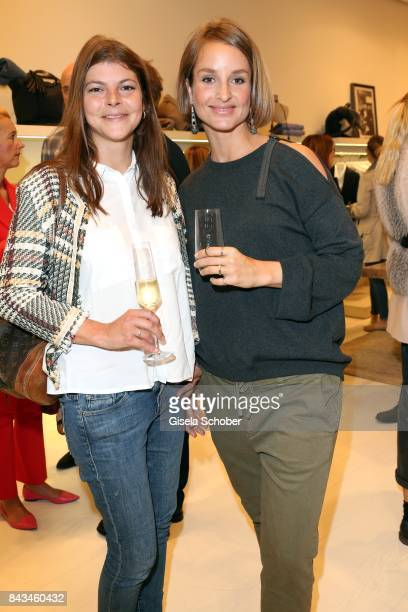 Julia FrankTewaag daughter of Uschi Glas and Lara Joy Koerner during the Brunello Cucinelli Cocktail on September 6 2017 in Munich Germany