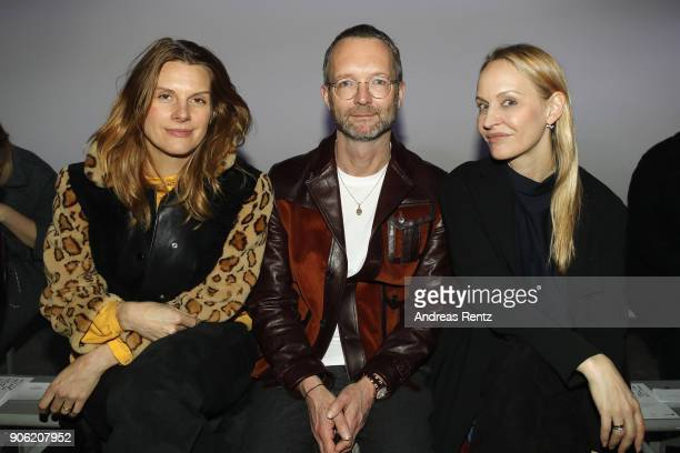 Julia Freitag Marcus Luft and Anne MeyerMinnemann attend the Odeeh Defile during 'Der Berliner Salon' AW 18/19 on January 17 2018 in Berlin Germany