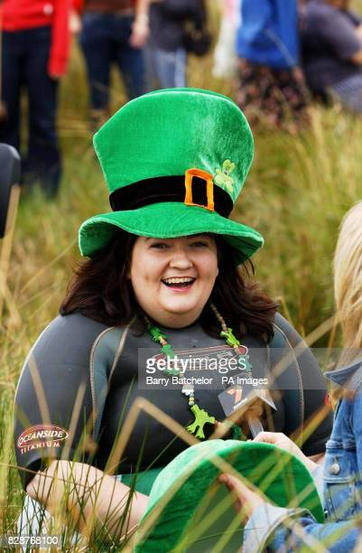 Julia Galvin from Listowel County Kerry Ireland before competing in the Ben Jerry's World Bog Snorkelling Championships 2003 at the UK's smallest...