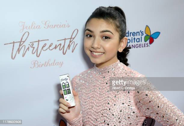 Julia Garcia of Disney's Sydney to the Max promotes Petite n' Pretty at her 13th birthday party to benefit Children's Hospital Los Angeles at Lucky...