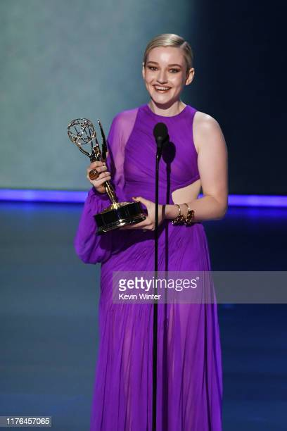 Julia Garner accepts the Outstanding Supporting Actress in a Drama Series award for 'Ozark' onstage during the 71st Emmy Awards at Microsoft Theater...