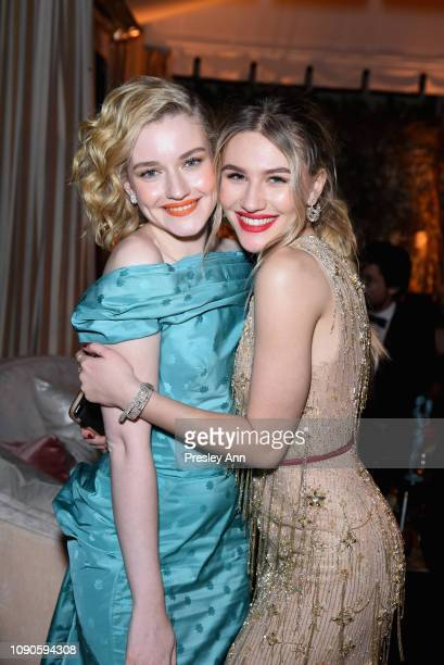Julia Garner and Sofia Hublitz attend Netflix 2019 SAG Awards after party at Sunset Tower Hotel on January 27 2019 in West Hollywood California