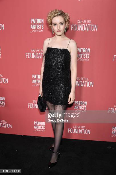 Julia Garner attends SAGAFTRA Foundation's 4th Annual Patron of the Artists Awards at Wallis Annenberg Center for the Performing Arts on November 07...