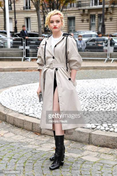 Julia Garner attends the Miu Miu show as part of the Paris Fashion Week Womenswear Spring/Summer 2019 on October 2 2018 in Paris France