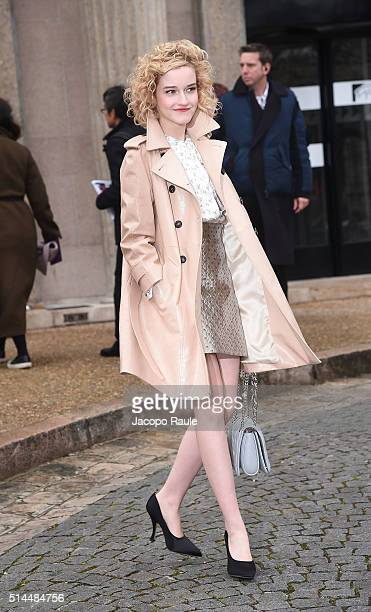Julia Garner attends the Miu Miu show as part of the Paris Fashion Week Womenswear Fall Winter 2016/2017 on March 9 2016 in Paris France