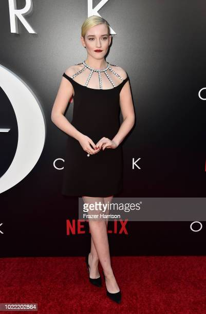 "Julia Garner attends the Premiere Of Netflix's ""Ozark"" Season 2 at ArcLight Cinemas on August 23, 2018 in Hollywood, California."