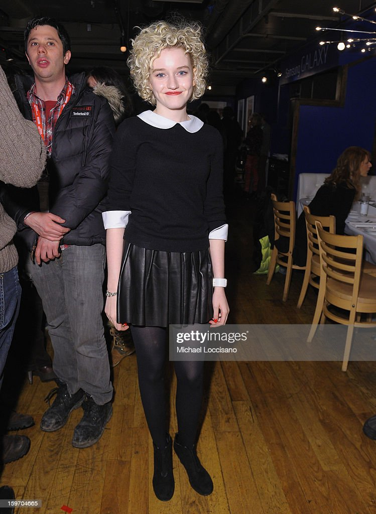 Julia Garner attends The Samsung Galaxy Lounge Hosts Cast Dinners for 'Touchy Feely' and 'We Are What We Are' at Village At The Lift 2013 on January 18, 2013 in Park City, Utah.