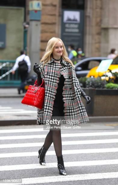 "Julia Garner is seen filming ""Inventing Anna"" on September 29, 2020 in New York City."