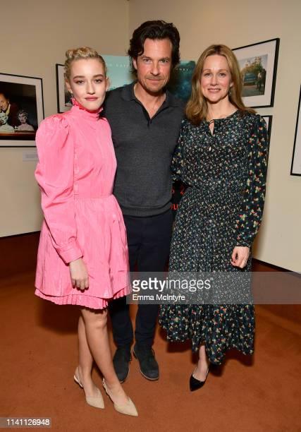 Julia Garner Jason Bateman and Laura Linney attend the Netflix Ozark screening reception at the Linwood Dunn Theater on April 07 2019 in Los Angeles...