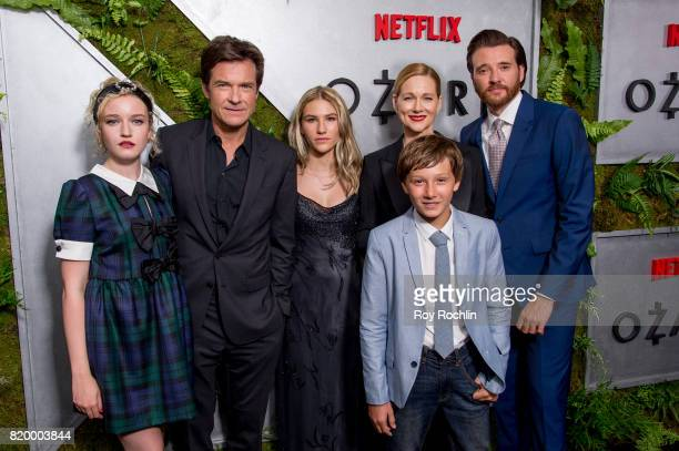 Julia Garner Jason Bateman Sofia Hublitz Skylar Gartner Laura Linney and Jason Butler Harner attend the 'Ozark' New York Screening at The Metrograph...