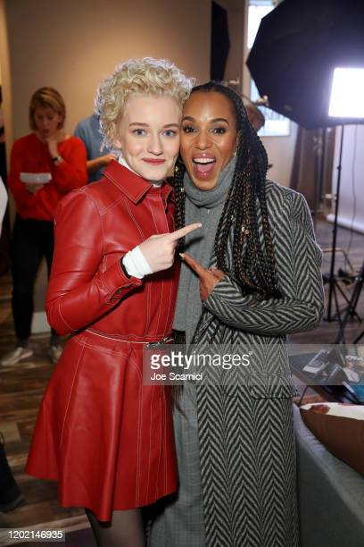 """Julia Garner of """"The Assistant"""" and Producer Kerry Washington of """"The Fight"""" stop by TheWrap Studio sponsored by Heineken at Sundance Film Festival..."""