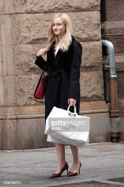 "Julia Garner on the set of ""Inventing Anna"" on September 29, 2020 in New York City, New York."