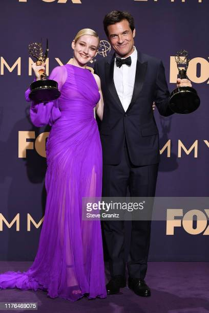Julia Garner, winner of the Outstanding Supporting Actress in a Drama Series award for 'Ozark,' and Jason Bateman, winner of the Outstanding...