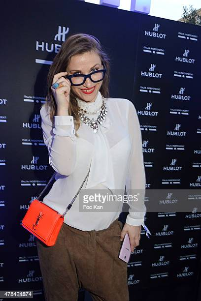 Julia Gautier attends the 'Hublot Blue' cocktail party At Monsieur Bleu Palais De Tokyo on June 24 2015 in Paris France