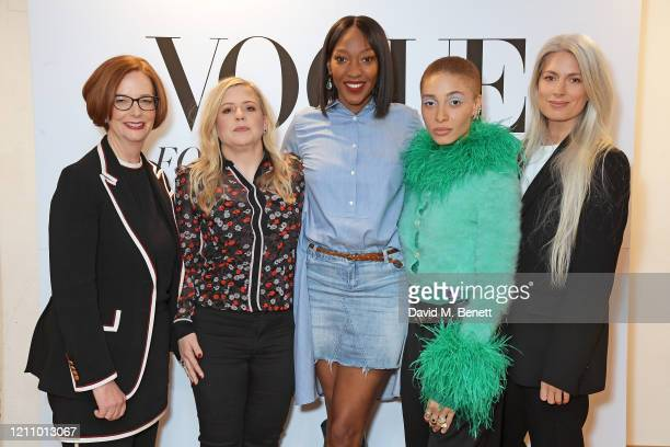 Julia Gillard Michelle Roberts Vanessa Kingori Adwoa Aboah and Sarah Harris attend British Vogue's Forces For Change during the WOW Women Of The...