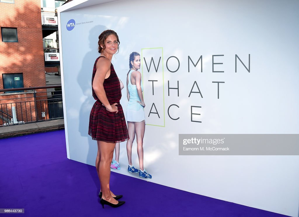 Julia Goerges attends the Women's Tennis Association (WTA) Tennis on The Thames evening reception at OXO2 on June 28, 2018 in London, England. The event was held to honour the powerful imprint female sporting legends and rising stars have made on the world, both on and off the tennis court.