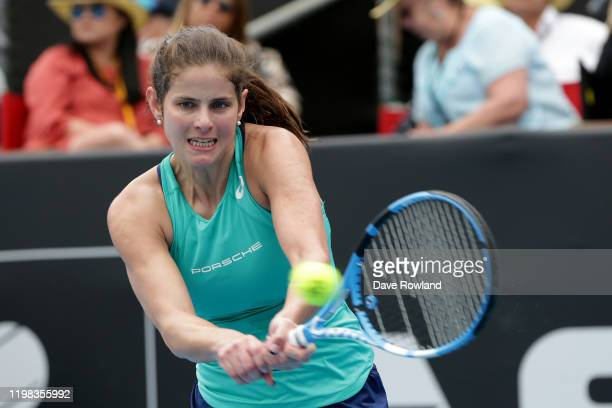 Julia Goerges of Germany during her match against Jil Teichmann of Switzerland during day four of the 2020 Women's ASB Classic at ASB Tennis Centre...
