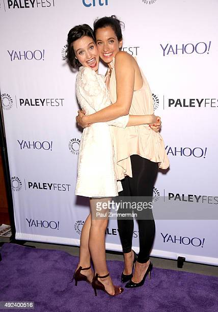 Julia Goldani Telles and Sarah Treem attend PaleyFest New York 2015 The Affair at The Paley Center for Media on October 12 2015 in New York City