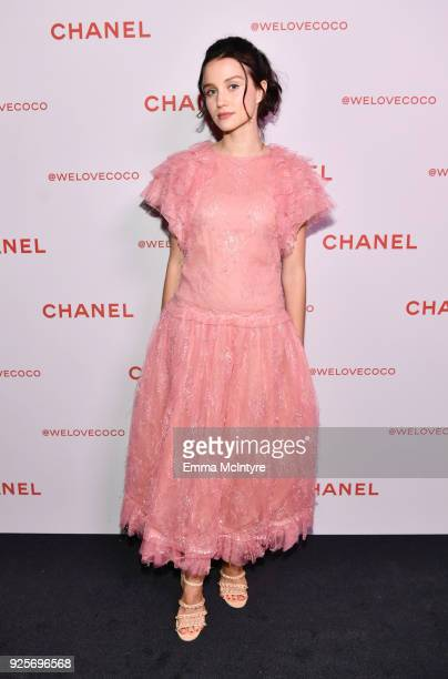 Julia Goldani Telles wearing Chanel attends a Chanel Party to celebrate the Chanel Beauty House and @WELOVECOCO at Chanel Beauty House on February 28...