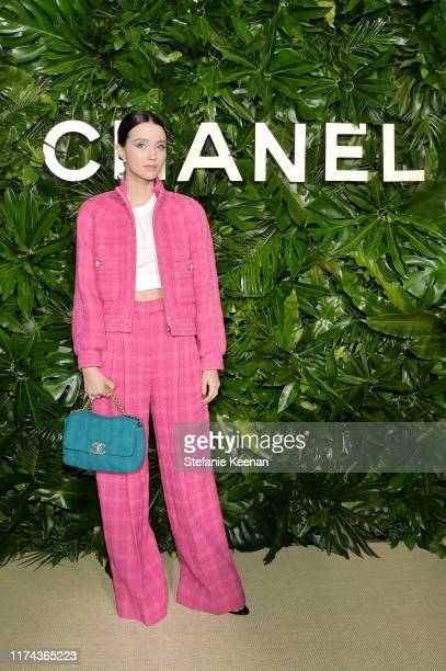 Julia Goldani Telleswearing CHANEL attends Chanel Dinner Celebrating Gabrielle Chanel Essence With Margot Robbie on September 12 2019 in Los Angeles...