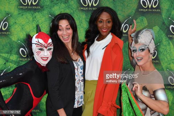 Julia Golding and Victoria Ekanoye attend the Cirque Du Soleil's OVO Premiere at The Liverpool Echo Arena on August 16 2018 in Liverpool England
