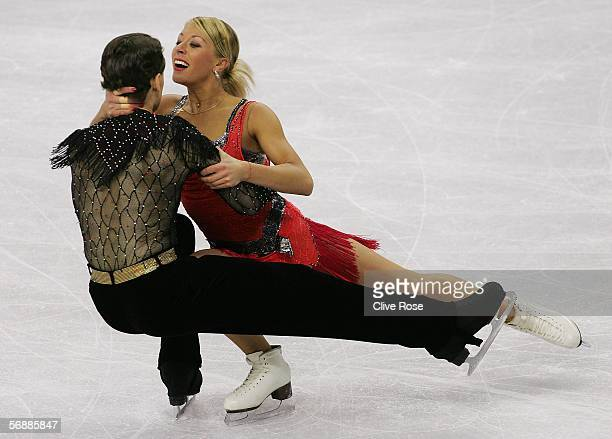 Julia Golovina and Oleg Voiko of Ukraine perform during the Original Dance program of the figure skating during Day 9 of the Turin 2006 Winter...