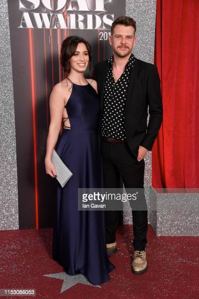 Julia Goulding and Ben Silver attend the British Soap Awards at The Lowry Theatre on June 01 2019 in Manchester England
