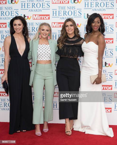 Julia Goulding Victoria Ekanoye Lucy Fallon and Kym Marsh attends the 'NHS Heroes Awards' held at the Hilton Park Lane on May 14 2018 in London...