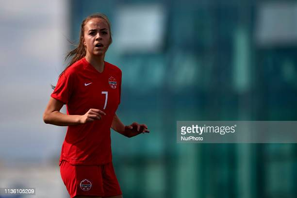 Julia Grosso of Canada in action during the international friendly match between Canada W and Nigeria W at Pinatar Arena on April 08 2019 in San...