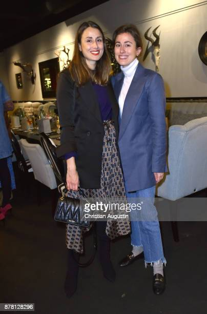 Julia Haghjoo and sister Sylvia Haghjoo attend the Grazia Future Dinner event at the restaurant Patio on November 23 2017 in Hamburg Germany