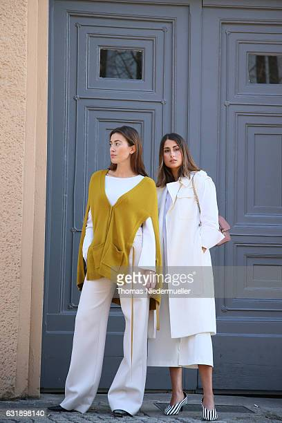 Julia Haghjoo and Sylvia Haghjoo during the Mercedes-Benz Fashion Week Berlin A/W 2017 at Kaufhaus Jandorf on January 17, 2017 in Berlin, Germany.