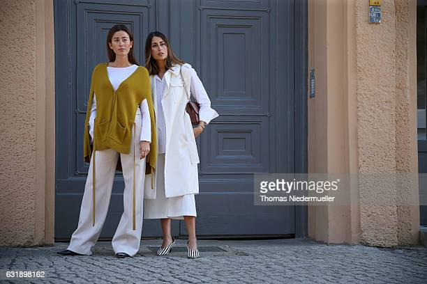 Julia Haghjoo and Sylvia Haghjoo during the MercedesBenz Fashion Week Berlin A/W 2017 at Kaufhaus Jandorf on January 17 2017 in Berlin Germany
