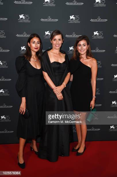 Julia Haghjoo CEO of JaegerLeCoultre Catherine Renier and Sylvia Haghjoo arrive for the JaegerLeCoultre Gala Dinner during the 75th Venice...