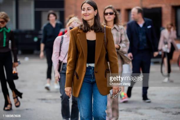 Julia Haghjoo is seen outside By Malene Birger during Copenhagen Fashion Week Spring/Summer 2020 on August 08, 2019 in Copenhagen, Denmark.