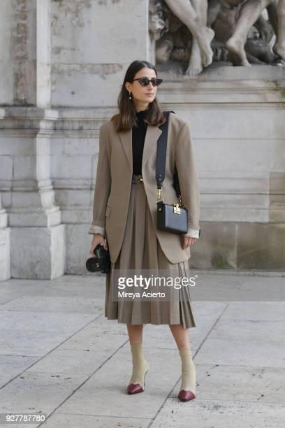 Julia Haghjoo seen during Paris Fashion Week Womenswear Fall/Winter 2018/2019 on March 5, 2018 in Paris, France.