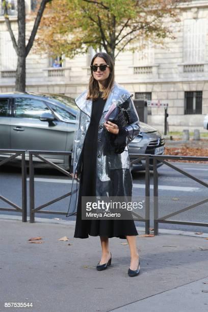 Julia Haghjoo seen during Paris Fashion Week Womenswear Spring/Summer 2018 on October 3, 2017 in Paris, France.