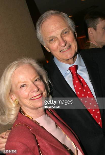 Julia Hanson and Alan Alda during 71st Annual Drama League Awards at Marriott Marquis Hotel in New York NY United States